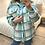 Thumbnail: Camisa/casaco xadrez turquesa/cru