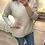 Thumbnail: Camisola de malha coração relevo beje