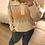 Thumbnail: Camisola de malha com gola beje
