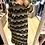 Thumbnail: Vestido geométrico camel Vintage Bazaar