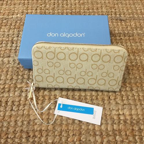 Carteira letras Don Algodon beje