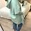 Thumbnail: Casaco de malha com capuz verde