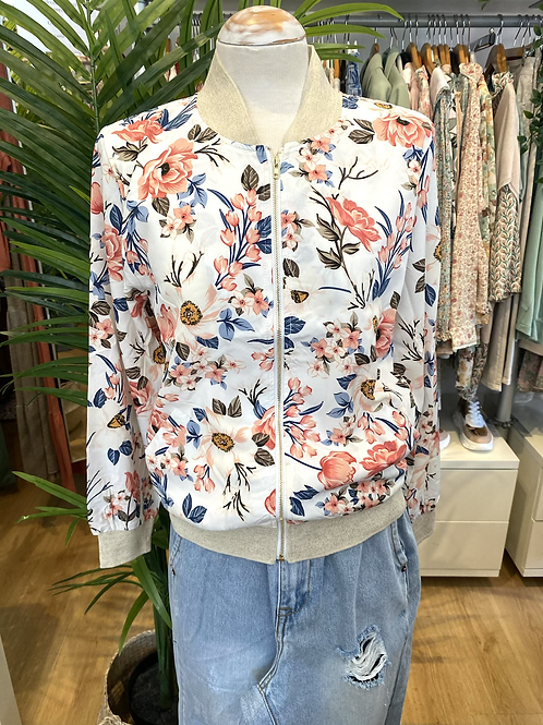 Bomber jacket flores coral