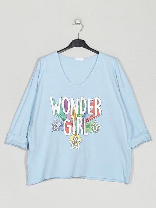 Camisola Wonder Girl azul