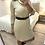 Thumbnail: Vestido de malha com cinto beje