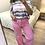 Thumbnail: Calça wide leg com cinto rosa