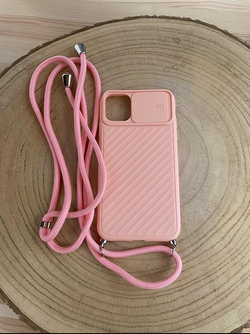 """Capa de telemóvel Iphone XR/10/11 6,1"""" proteção câmera coral"""