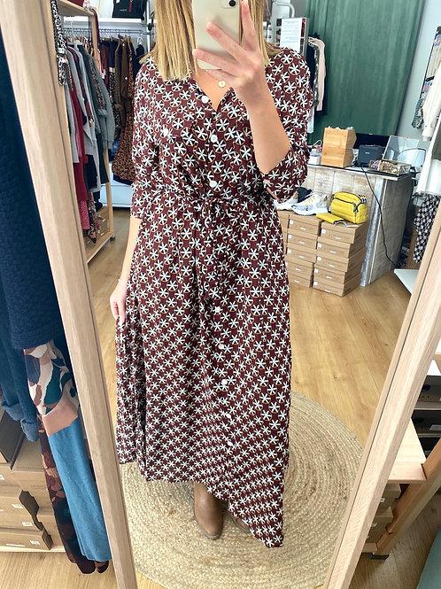 Vestido comprido Alvor bordô Vintage Bazaar