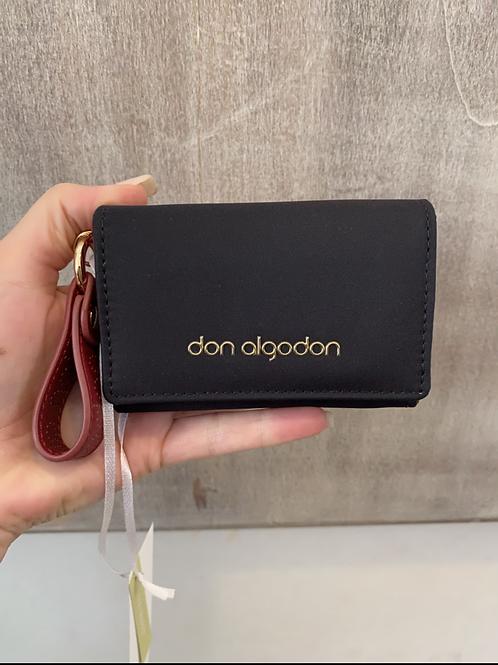 Porta-moedas preto Don Algodon