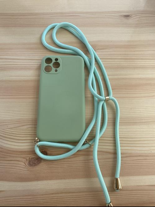 """Capa de telemóvel Iphone 11 PRO 5.8"""" liso verde"""