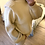 Thumbnail: Camisola de malha gola alta beje