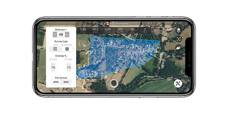 Double grid mapping survey with Copterus app for DJI drones