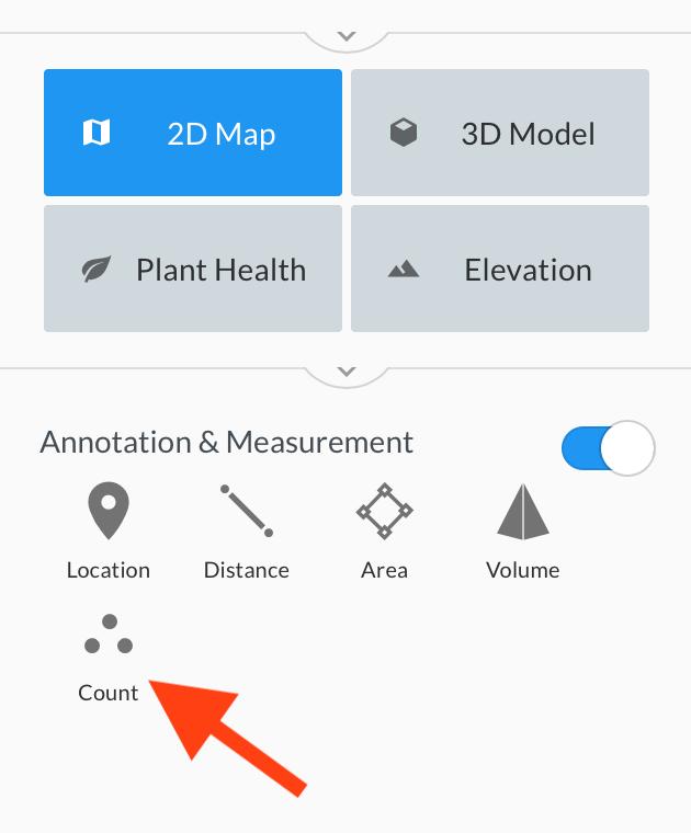 DroneDeploy инструмент Подсчет объектов