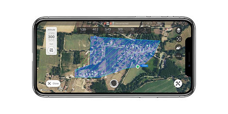Mapping survey with Copterus app for DJI drones