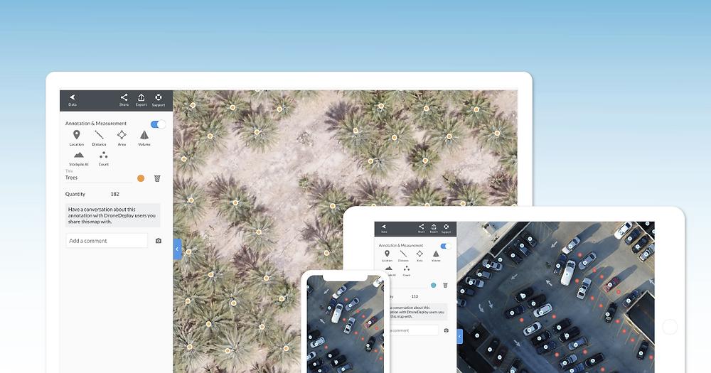 DroneDeploy пример подсчета