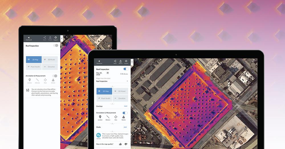DroneDeploy термальная карта в реальном времени