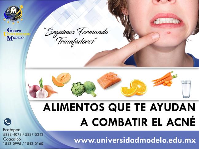 Alimentos que te ayudan a combatir el acné