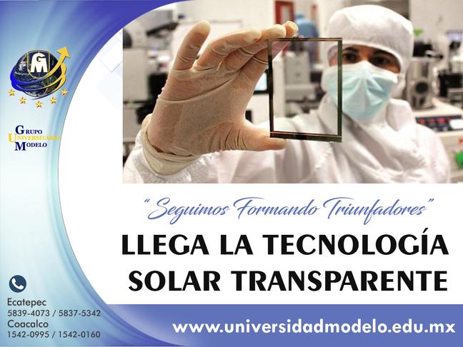 Tecnología solar completamente transparente