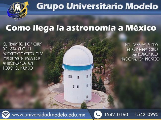 Como llega la astronomía a México