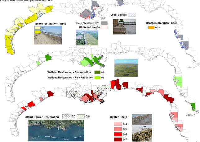 Spatial portfolio of adaptation measures.