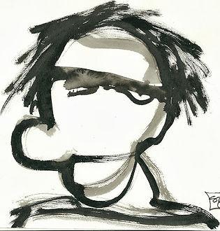 Alphonse, encre de Chine sur papier, 20x20 (vendu)