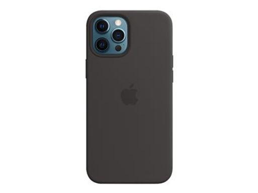 Apple Silikondeksel 12 Pro Max, Sort Deksel til iPhone 12 Pro Max m/MagSafe