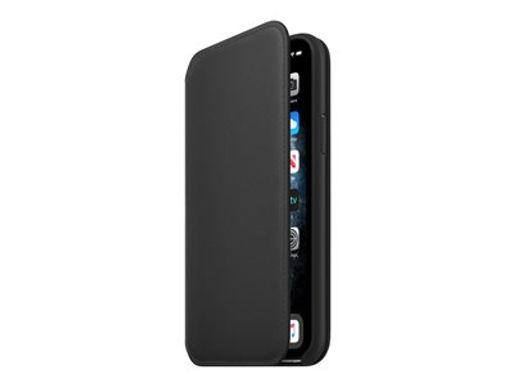 Apple iPhone 11 Pro Leather Folio, Svart Deksel
