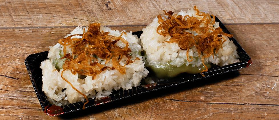 Sticky Rice and Mung Bean Dumplings - Xôi Khúc