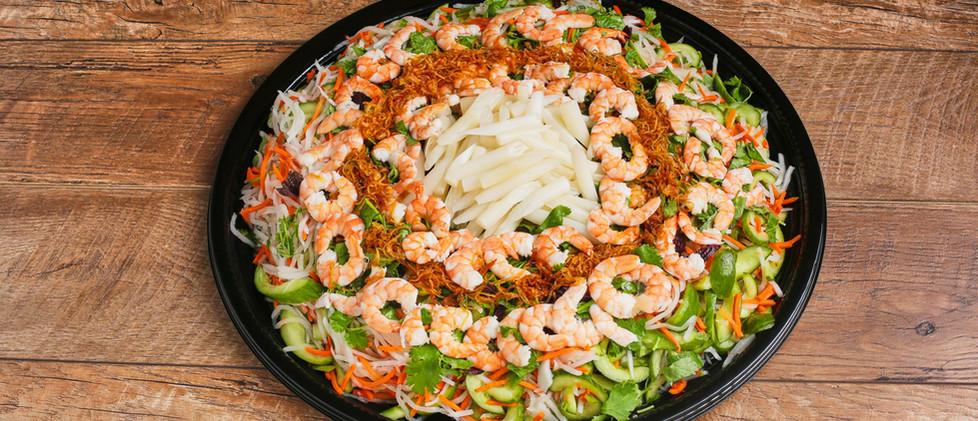 Shredded Daikon, Carrots with Steam Pork & Shrimp Salad - Gỏi Tôm Thịt