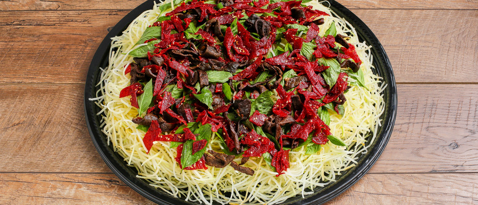 Green Papaya Salad with Beef Jerky & Beef Liver - Gỏi Đu Đủ Bò Khô Gan Cháy