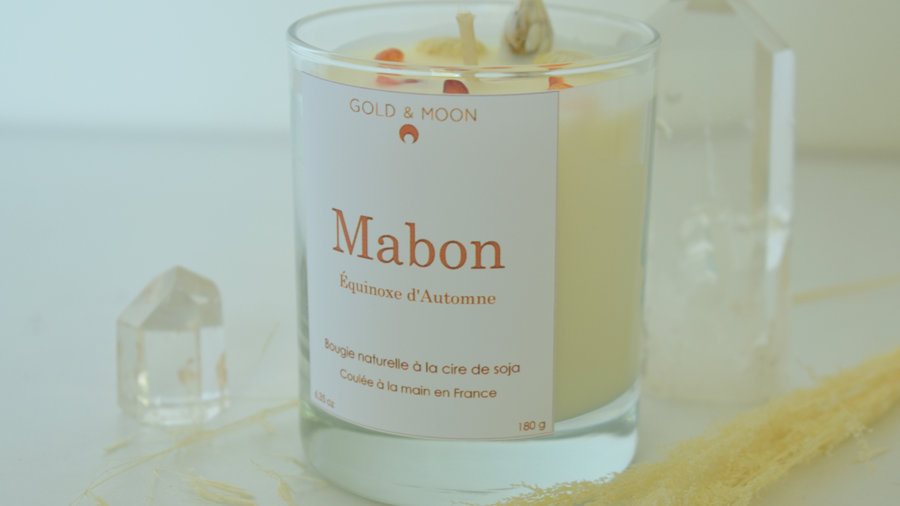 Bougie Mabon Équinoxe d'automne