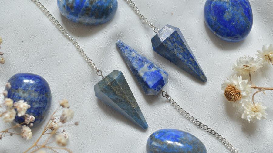 Pendule facetté Lapis lazuli
