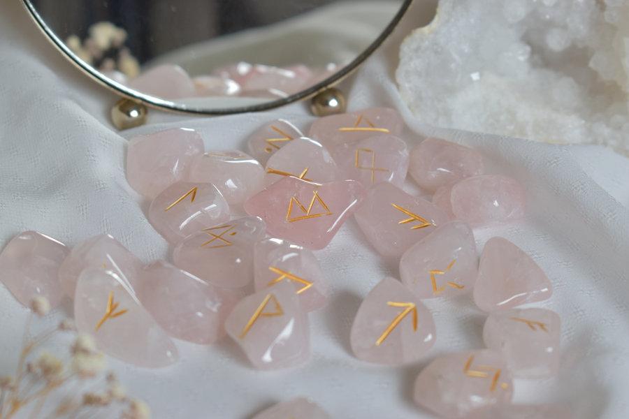 runes viking quartz rose