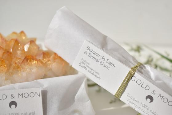 encens 100% naturel encens non toxique encens végétal gold and moon gold & moon