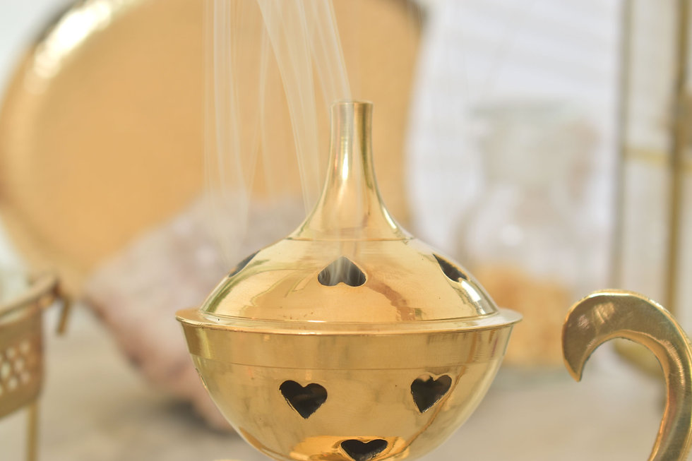encensoir laiton doré oriental