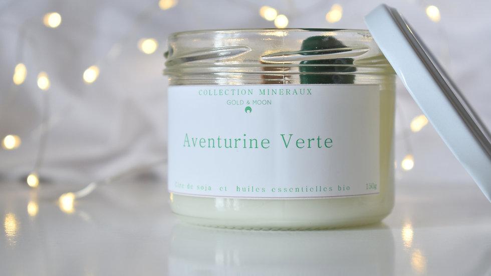 Bougie parfumée Aventurine verte