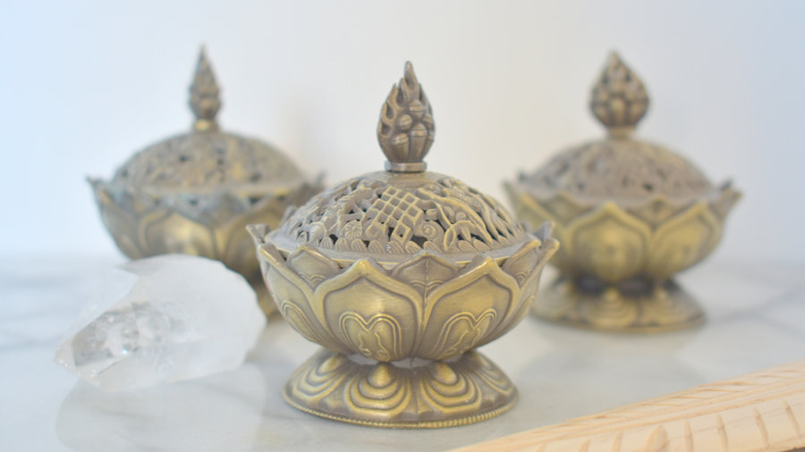 Brûleur d'encens Lotus