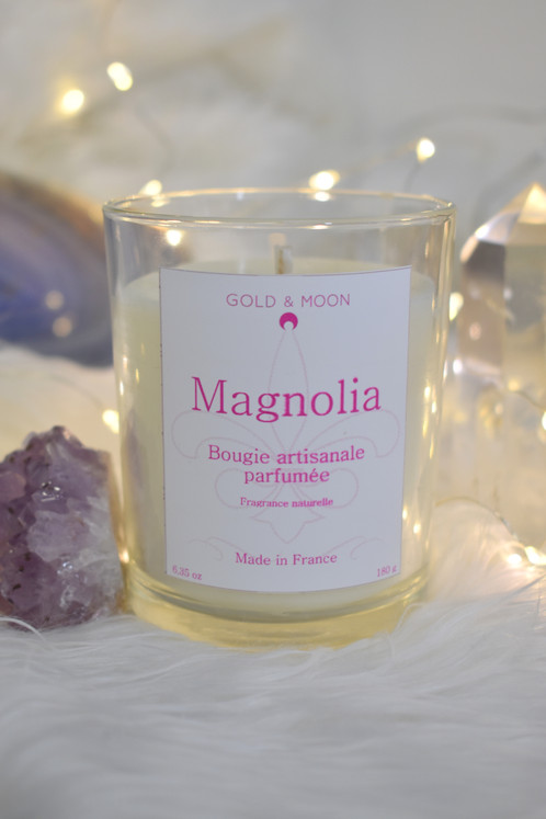 bougie pafum e magnolia le petit savon bio gold moon. Black Bedroom Furniture Sets. Home Design Ideas