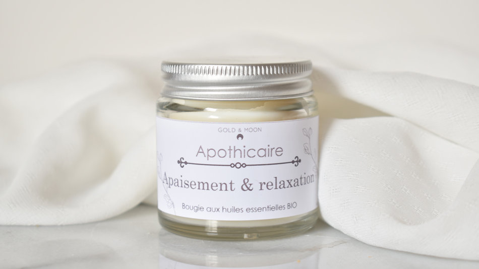 Bougie Apothicaire APAISEMENT & RELAXATION