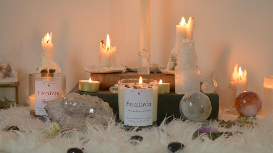 Bougie Samhain Nouveau cycle