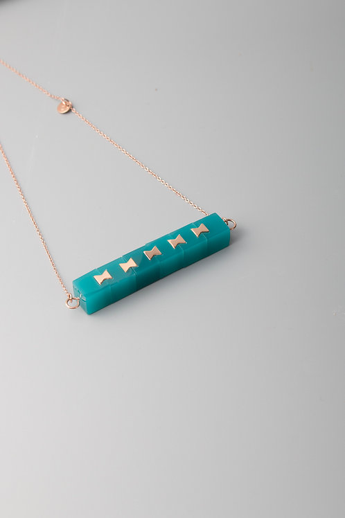 LINK MULTI NECKLACE - TURQUOISE