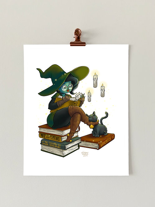 Book Witch Art Print
