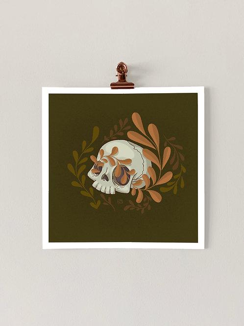 Mini Skull Art Print