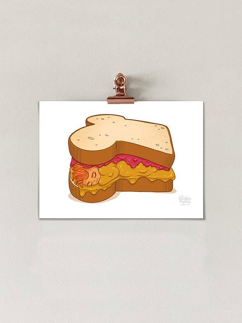 Comfort Food: PBJ Art Print
