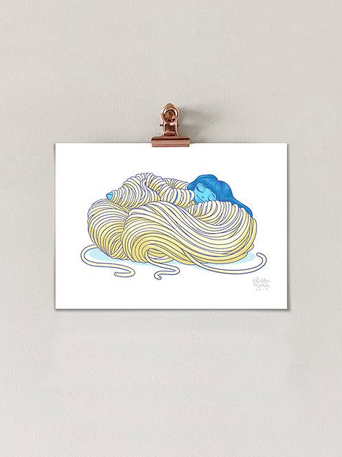 Comfort Food: Noodles Art Print