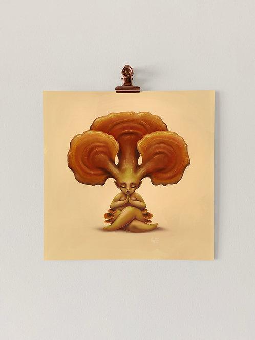 Reishi Shroom Babe Art Print