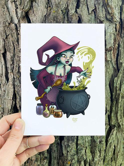Kitchen Witch Art Print
