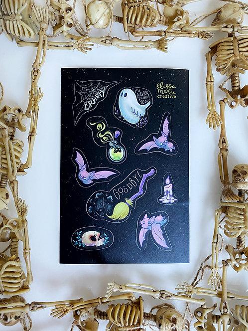 Spooky Sticker Sheet