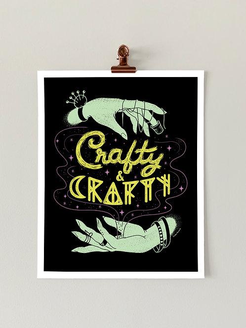 Crafty & Crafty Art Print