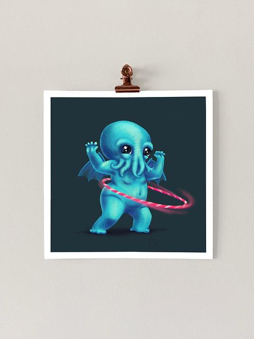 Cthulhu-hoop Art Print